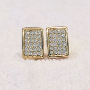 Dior Crystal Embellished Clip Earrings
